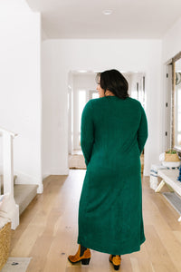 Maxi Cardi In Hunter Green - Smith & Vena Online Boutique
