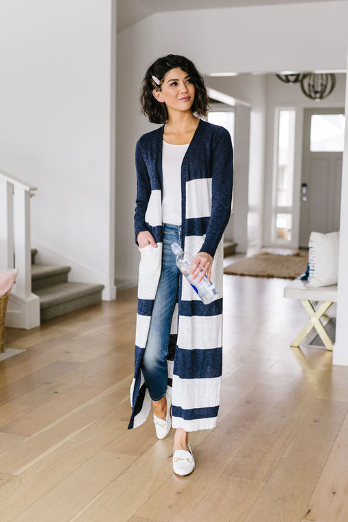 Lynn Striped Cardigan - Smith & Vena Online Boutique