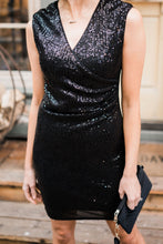 Load image into Gallery viewer, Onyx Opulence Sequined Dress - Smith & Vena Online Boutique