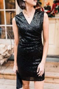 Onyx Opulence Sequined Dress - Smith & Vena Online Boutique