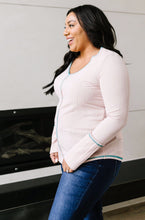 Load image into Gallery viewer, On The Edge Of Spring Top In Blush - Smith & Vena Online Boutique