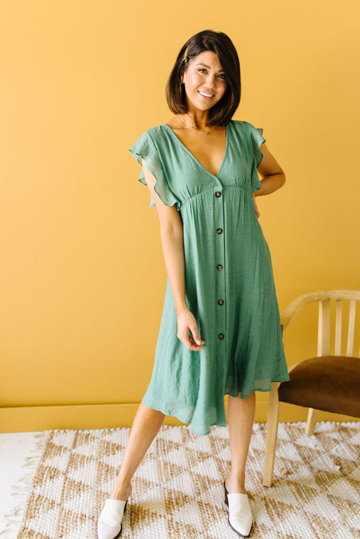 Picture This Sage Midi Dress - Smith & Vena Online Boutique