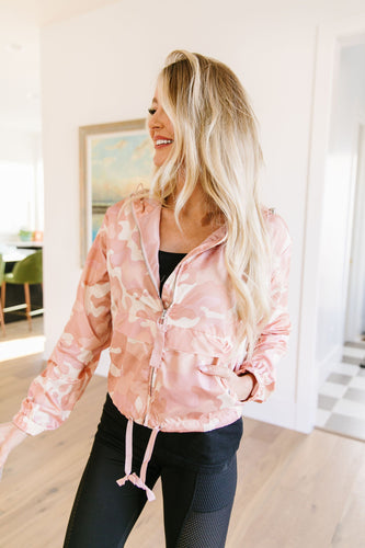 Pink Camo Windbreaker - Smith & Vena Online Boutique