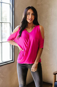 Callie Top - Fushia - SAMPLE - Smith & Vena Online Boutique