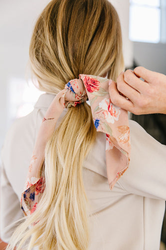 Spring Fling Floral Tying Scrunchie - Smith & Vena Online Boutique