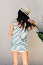 Load image into Gallery viewer, Ava Stripe Tank In Mint - Smith & Vena Online Boutique