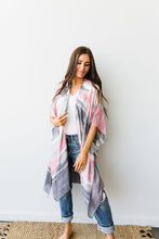 Load image into Gallery viewer, Sunset Streaked Kimono - Smith & Vena Online Boutique