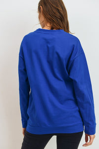 Tessa Pocket Top - Blue - Smith & Vena Online Boutique