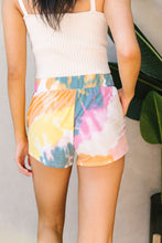 Load image into Gallery viewer, Tie Dye Swirls Shorts In Yellow - Smith & Vena Online Boutique