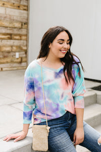 Kelsy Tie Dye Top - Smith & Vena Online Boutique