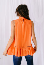 Load image into Gallery viewer, Victoria Lace Mock Neck Top In Orange - Smith & Vena Online Boutique