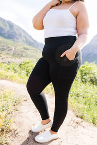 Working From Home Athletic Leggings - Smith & Vena Online Boutique