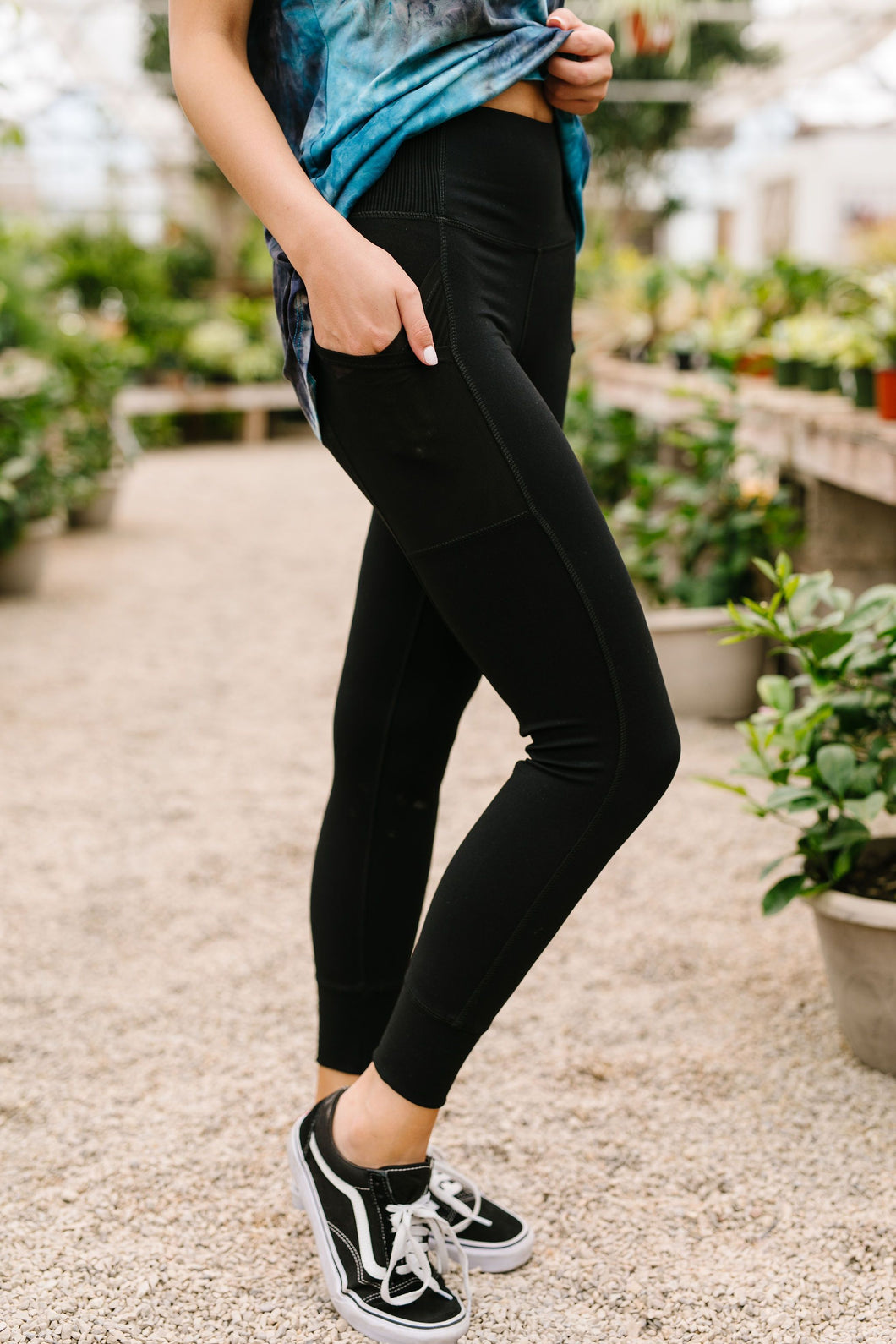 Working From Home Athletic Leggings - SAMPLE - Smith & Vena Online Boutique