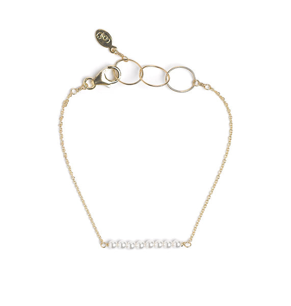 Goldfine: Pearl Bar Bracelet