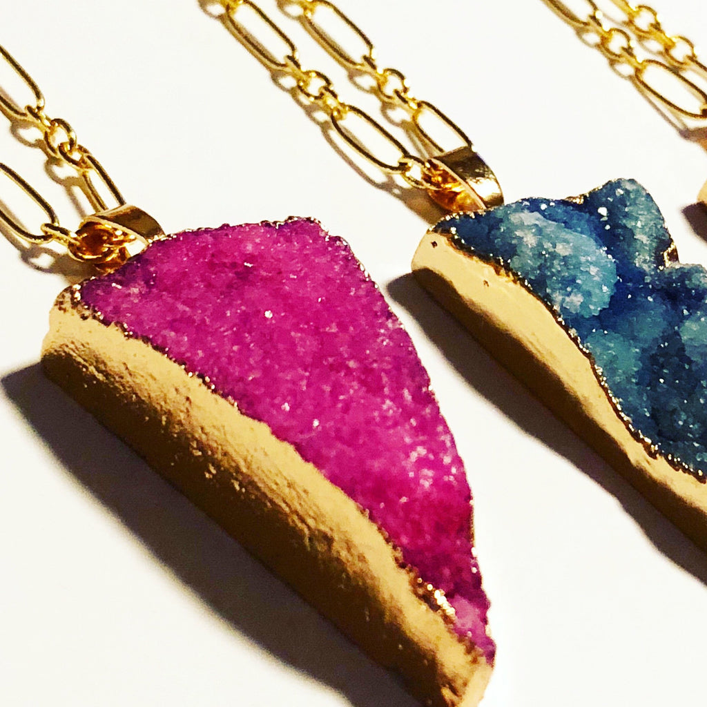 Cherry Rock: Druzy Arrowhead Necklace