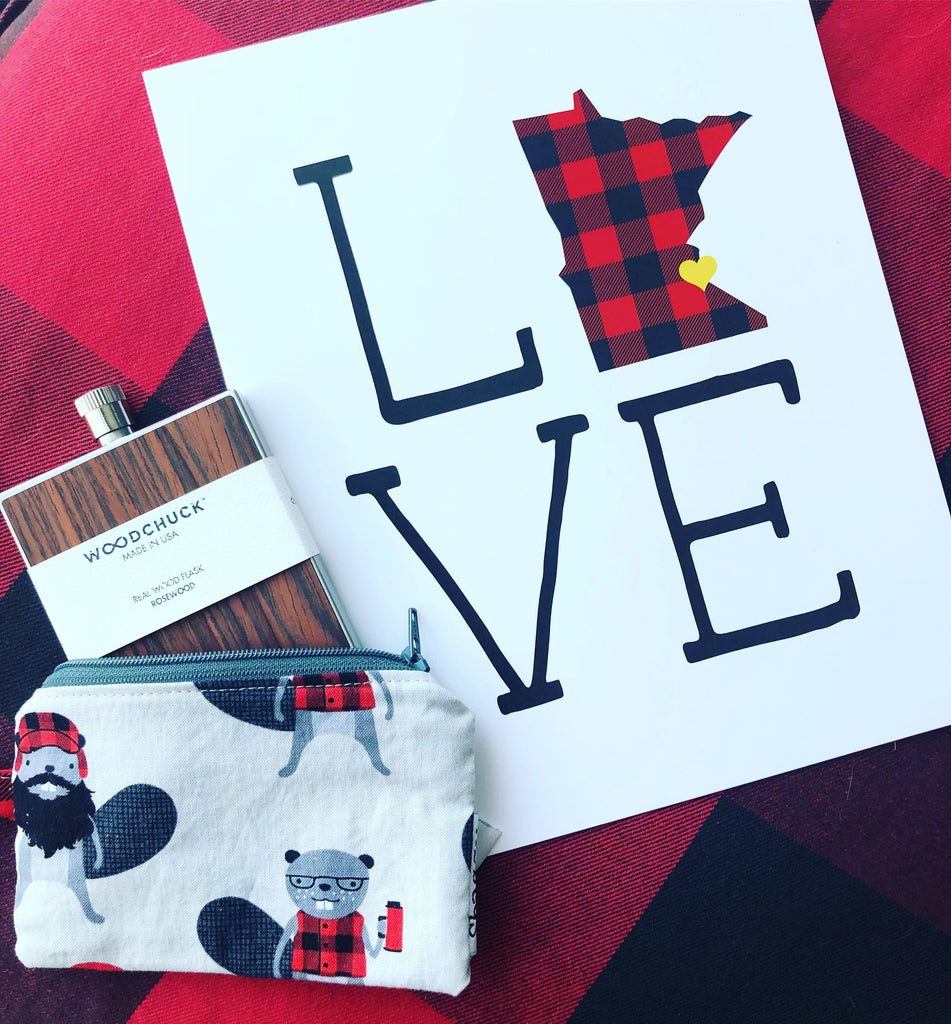 Minne Momma Designs: Love MN Buffalo Plaid Print