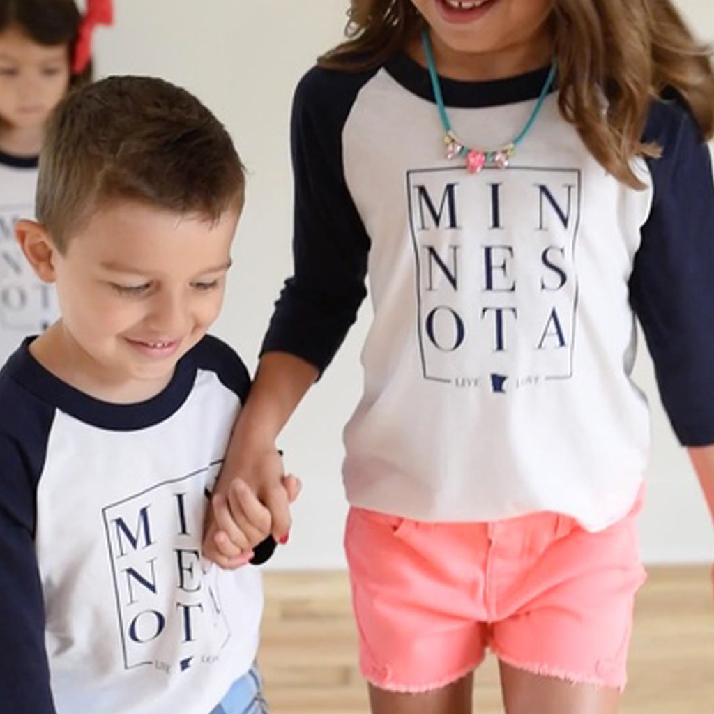 Live & Love MN: Children's Minnesota Baseball Tee