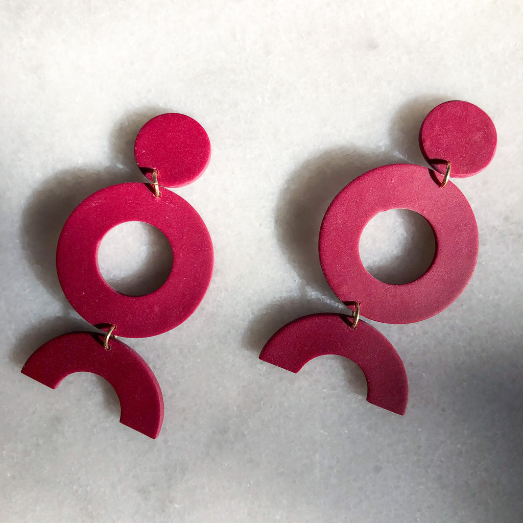 Jac & Violet X PSR Rose Disco Diva Earrings