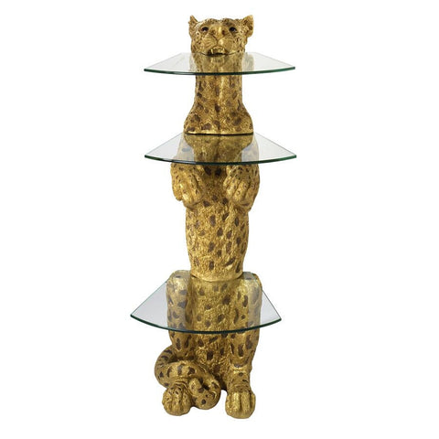 Royal Egyptian Cheetah Pedestal Table - Sculptcha