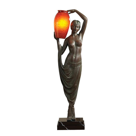 Art Deco Goddess of Light Floor Lamp - Sculptcha