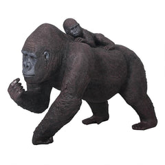 Lowland Gorillas Mother And Child Large Statue