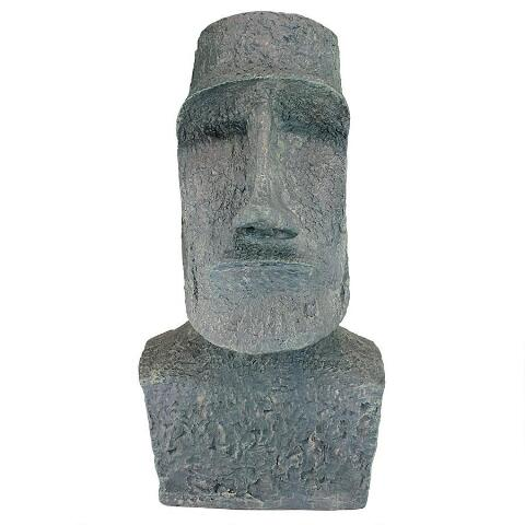 Large Easter Island Moai Head Statue - Sculptcha