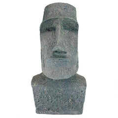 Large Easter Island Moai Head Statue