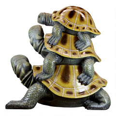 Giant Three Is A Crowd Lucky Turtle Statue - Sculptcha
