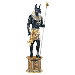 Egyptian Grand Ruler Anubis Statue with Mount