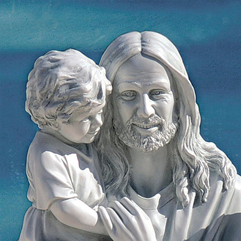 Jesus Loves the Little Children Statue - Sculptcha