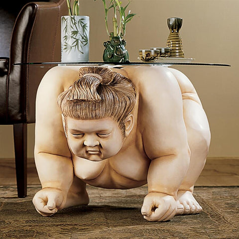 Basho The Sumo Wrestler Table - Sculptcha