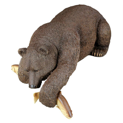 Catch of the Day Bear Statue - Sculptcha