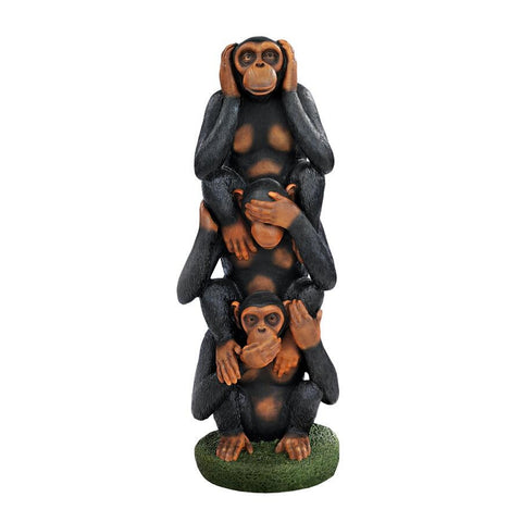 Hear See Speak No Evil Monkey Statue - Sculptcha