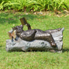 Bear Lazy Reader Garden Sculpture - Sculptcha