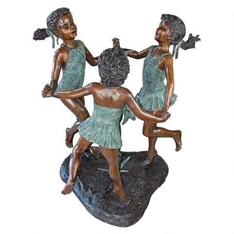 Fun in the Sun Girls Bronze Statue - Sculptcha