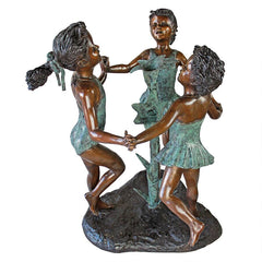 Fun in the Sun Girls Bronze Statue