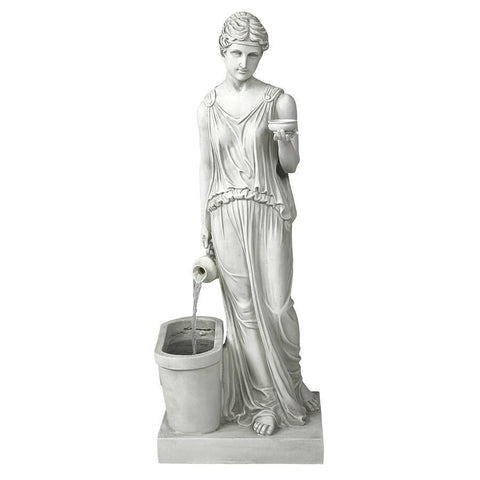 Hebe Goddess of Youth Garden Fountain - Sculptcha