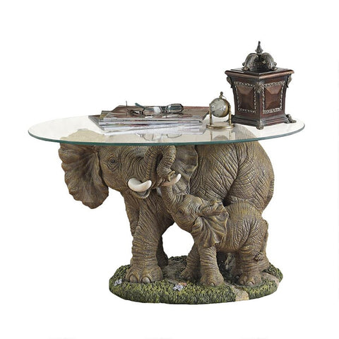 Elephant Majesty Cocktail Table - Sculptcha