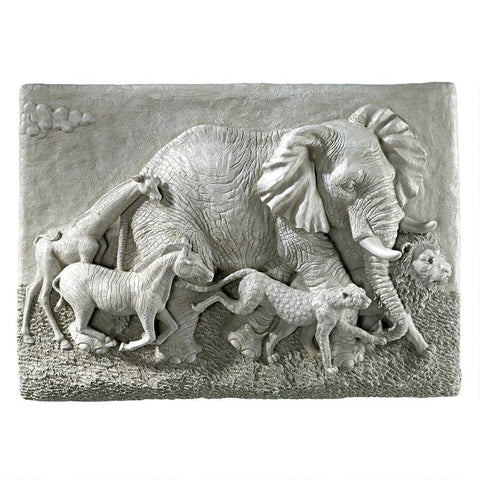 Peaceful Passage Elephant Wall Sculpture - Sculptcha