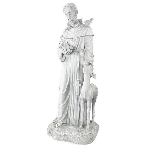 Large St Francis of Assisi Patron of Animals Statue - Sculptcha
