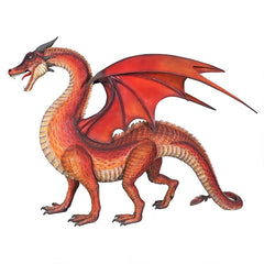 Giant Welsh Red Dragon Statue