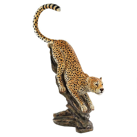 Stalking The Savannah Cheetah Statue - Sculptcha