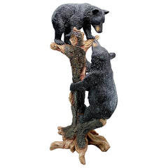 Large Climbing Cubs Black Bear Statue