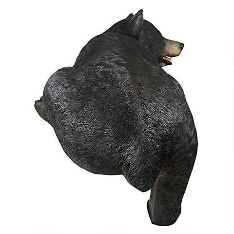 Large Lemont The Lovable Longer Black Bear Statue - Sculptcha