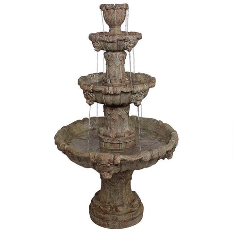 Medici Lion Four Tier Brown Fountain - Sculptcha