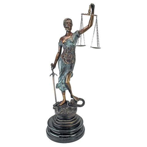 Blind Justice Statue Gift for Lawyer - Sculptcha