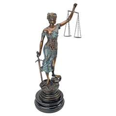 Table Top Themis Blind Justice Lawyer Gift Bronze Statue