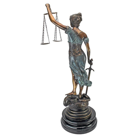 Table Top Themis Blind Justice Bronze - Sculptcha