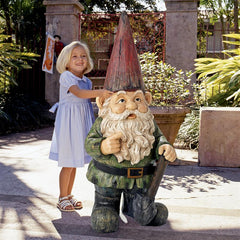 Gottfried the Grande Garden Gnome Statue - Sculptcha