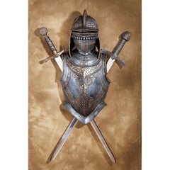 Nunsmere Hall 16th Century Battle Suit of Armor Wall Display - Sculptcha